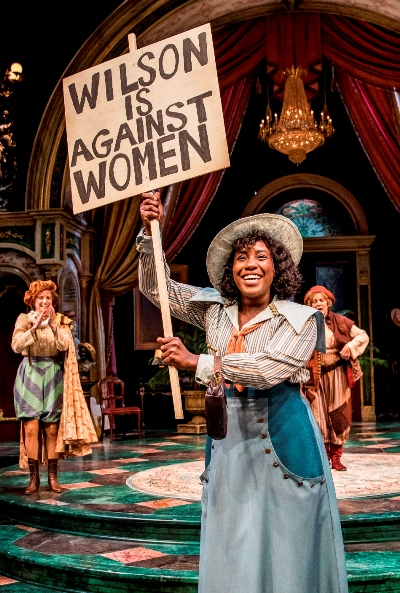 """While the ladies are rehearsing """"Shrew,"""" the war for the women's right-to-vote is waging outside. (Liz Lauren)"""