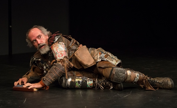 In his patched-together garb, Henry Godinez is the image of Don Quixote. (Michael Brosilow)