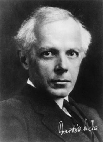 Composer Bela Bartok around 1939 when he wrote the Divertimento for Strings.