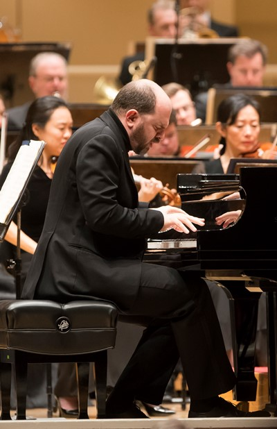 Pianist Kiril Gerstein: Luminous playing in Brahms' concerto. (Todd Rosenberg)