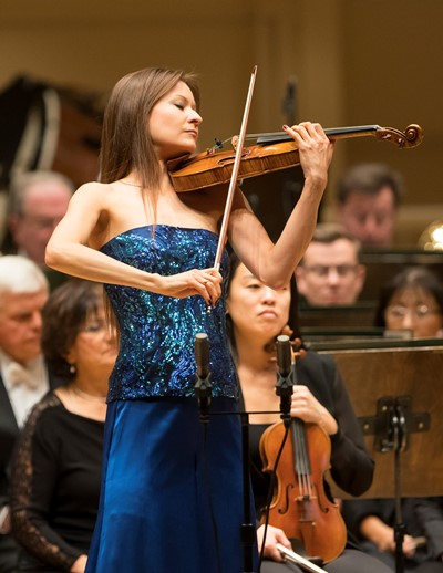 Arabella Steinbacher: a virtuosic and personal performance of Berg's Concerto. (Todd Rosenberg)