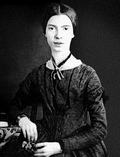 Emily Dickinson as a young woman in Amherst, Mass.