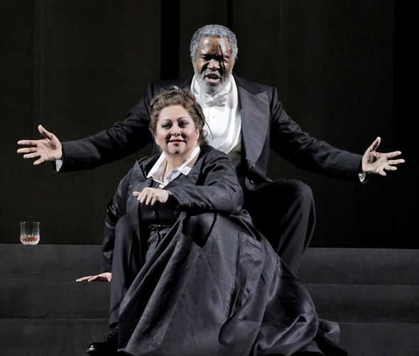 Wotan (Eric Owens) views Brunnhilde (Christine Goerke) as an extension of his mind and will.