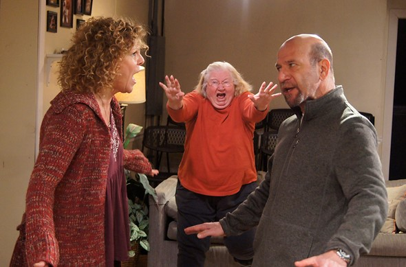 An all-in-the-family chat among Rebecca (Jacqueline Grandt), Daphne (Kathleen Ruhl) and Jamie (Adam Bitterman). (Jan Ellen Graves)