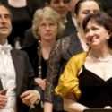 4/15/11 10:06:38 PM -- Chicago Symphony Orchestra, Riccardo Muti Music Director.  Maestro Muti, Aleksandrs AntonenkoOtello) Krassimira Stoyanova (Desdemona) and the Orchestra and Chorus take final bows following Verdi's Otello at Carnegie Hall in New York, NY  © Todd Rosenberg Photography 2011