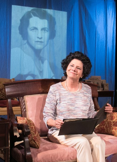 Historical portrait of the young Rose overlooks Linda Reiter as Rose in her later years. (Johnny Knight)
