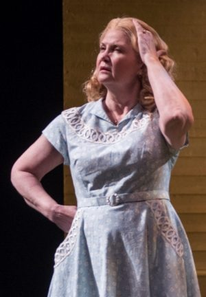 Kate Collins as Joe Keller's wife Kate, share-holder of his secret. (Michael Brosilow)