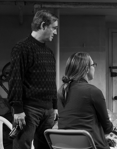 Richard Thomas portrays Erik with Daisy Eagan as his daughter Brigid. (Julieta Cervantes)