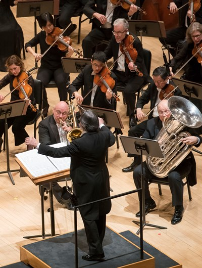 Bass trombone Charles Vernon and tuba Gene Pokorny complete the quartet for Higdon's new concerto. (Todd Rosenberg)