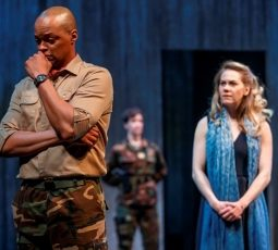 Michael Blake as Othello and Amelia Sargisson as Desdemona in Othello. Photography by David Hou.